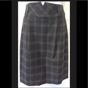 TRINA TURK Career Preppy Plaid Pencil Pleated